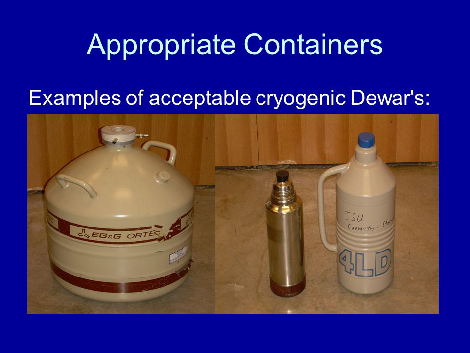 Appropriate Containers