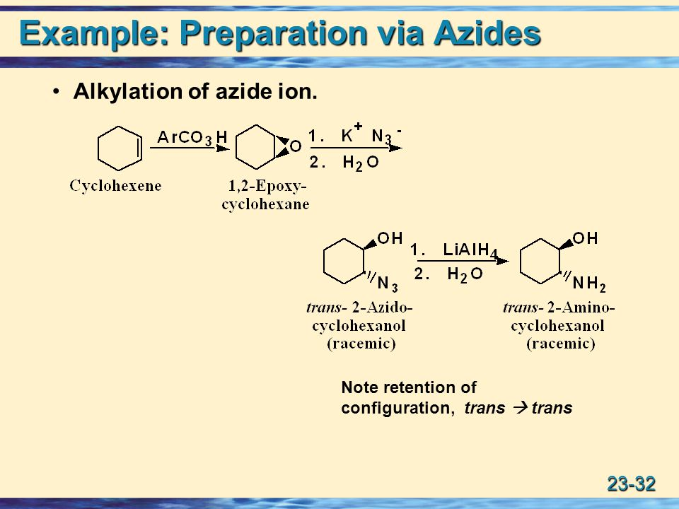 Example: Preparation via Azides