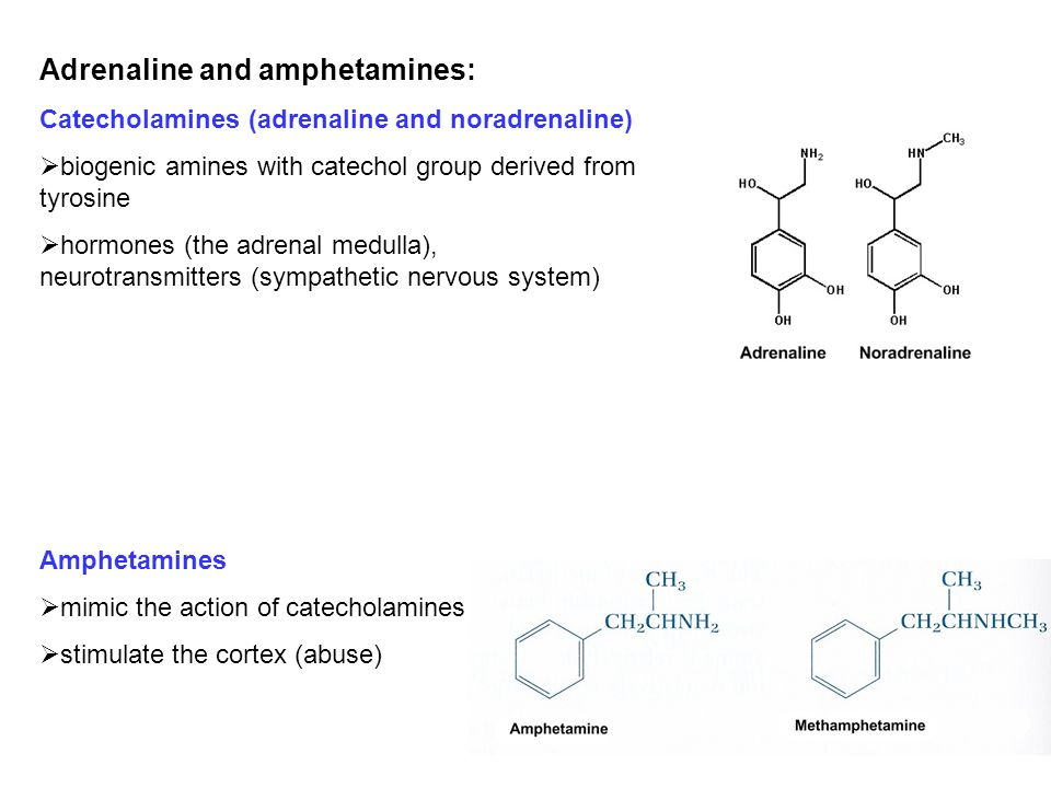 Adrenaline and amphetamines: