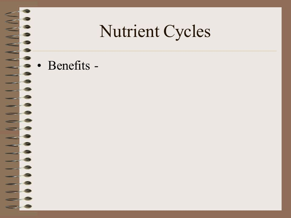 Nutrient Cycles Benefits -