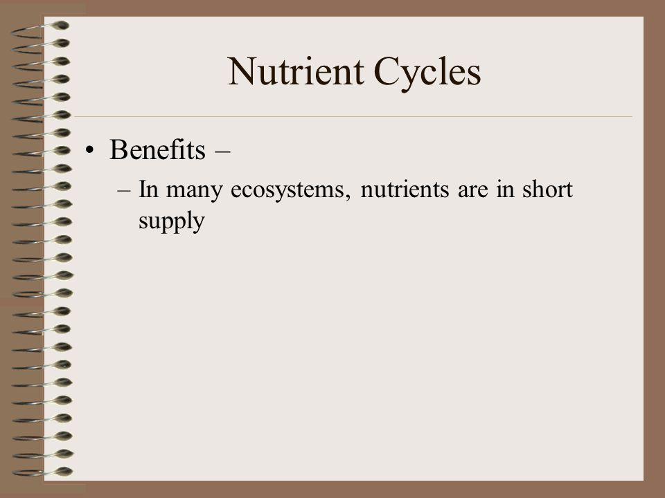 Nutrient Cycles Benefits –