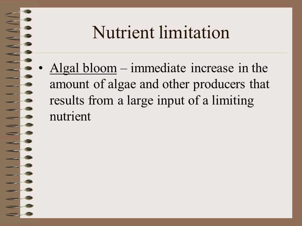 Nutrient limitation