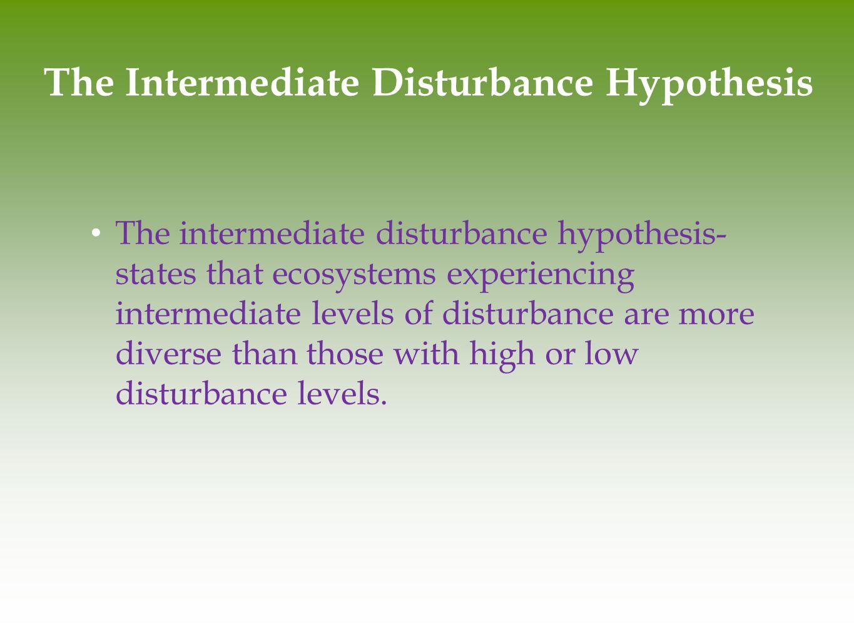 The Intermediate Disturbance Hypothesis
