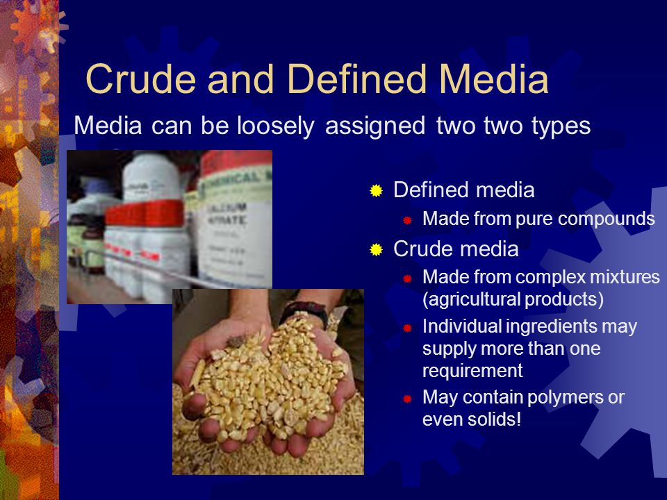 Crude and Defined Media