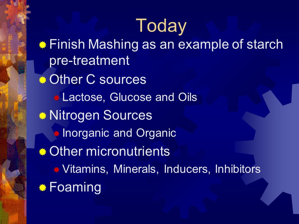 Today Finish Mashing as an example of starch pre-treatment