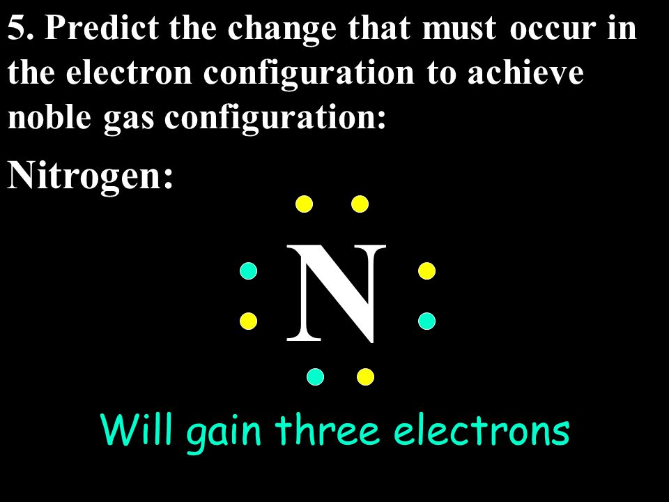 Will gain three electrons