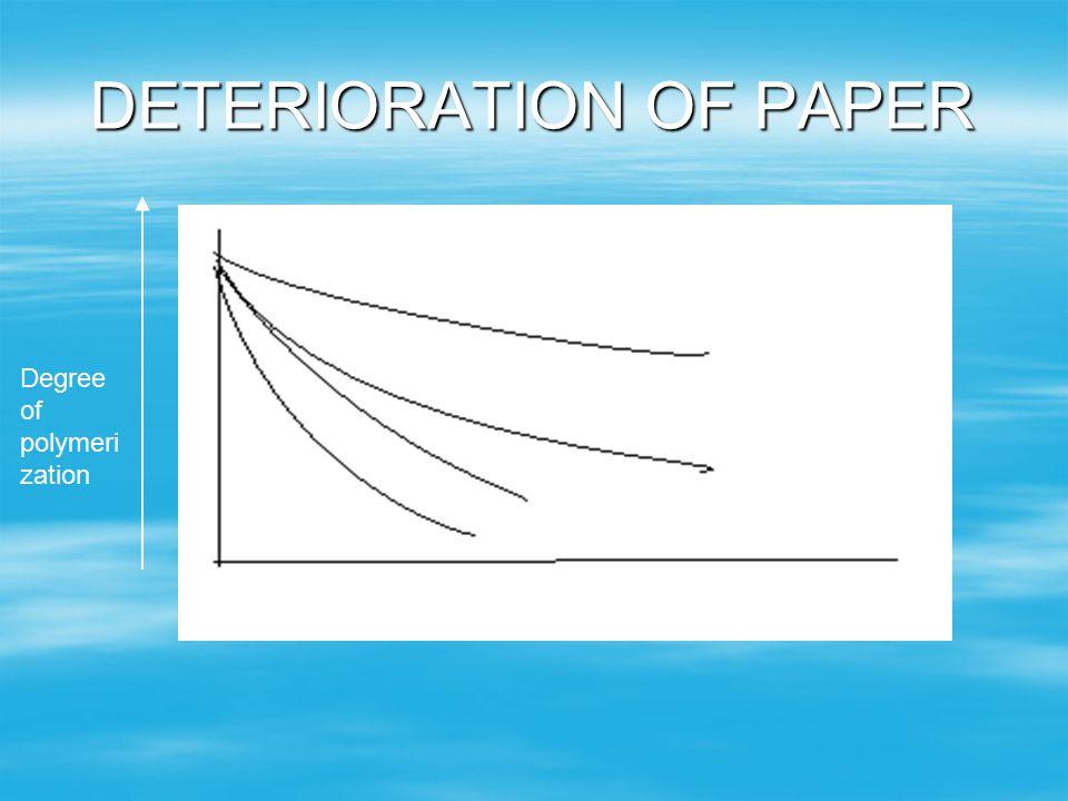 DETERIORATION OF PAPER
