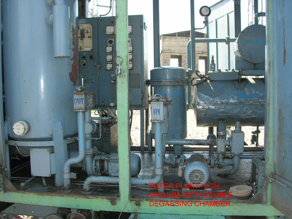 FILTER PLANT HIGH VACUUM WITH DOUBLE DEGASSING CHAMBER