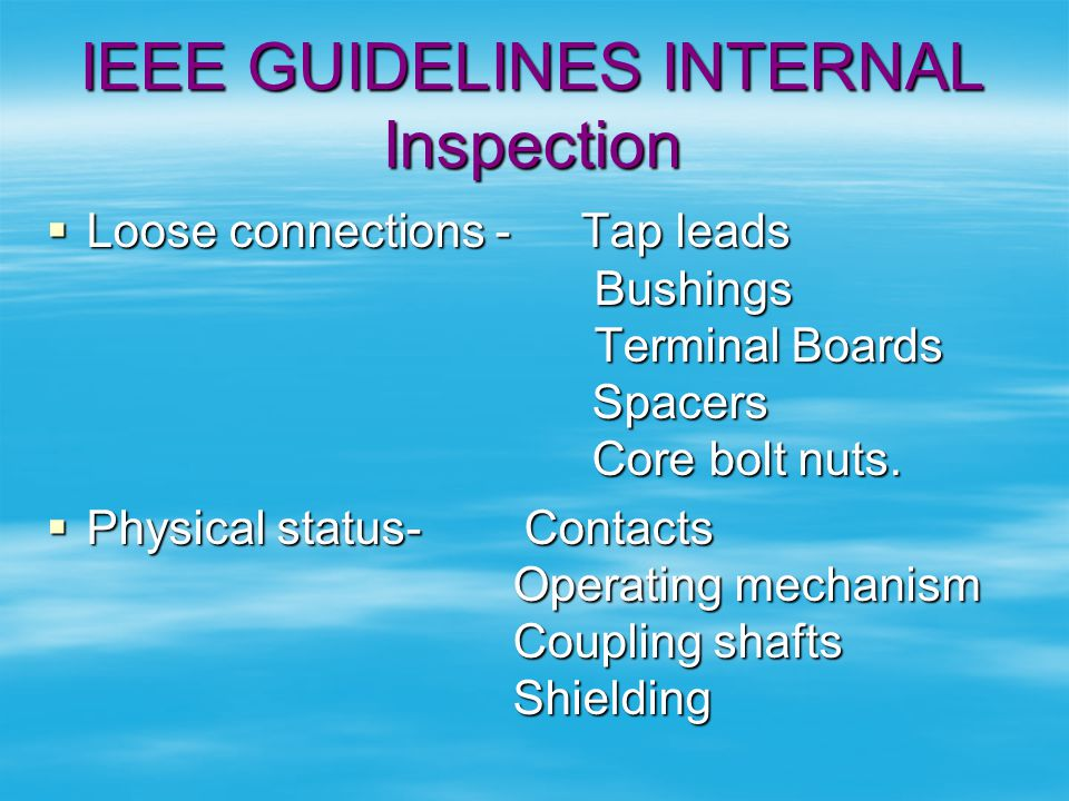 IEEE GUIDELINES INTERNAL Inspection
