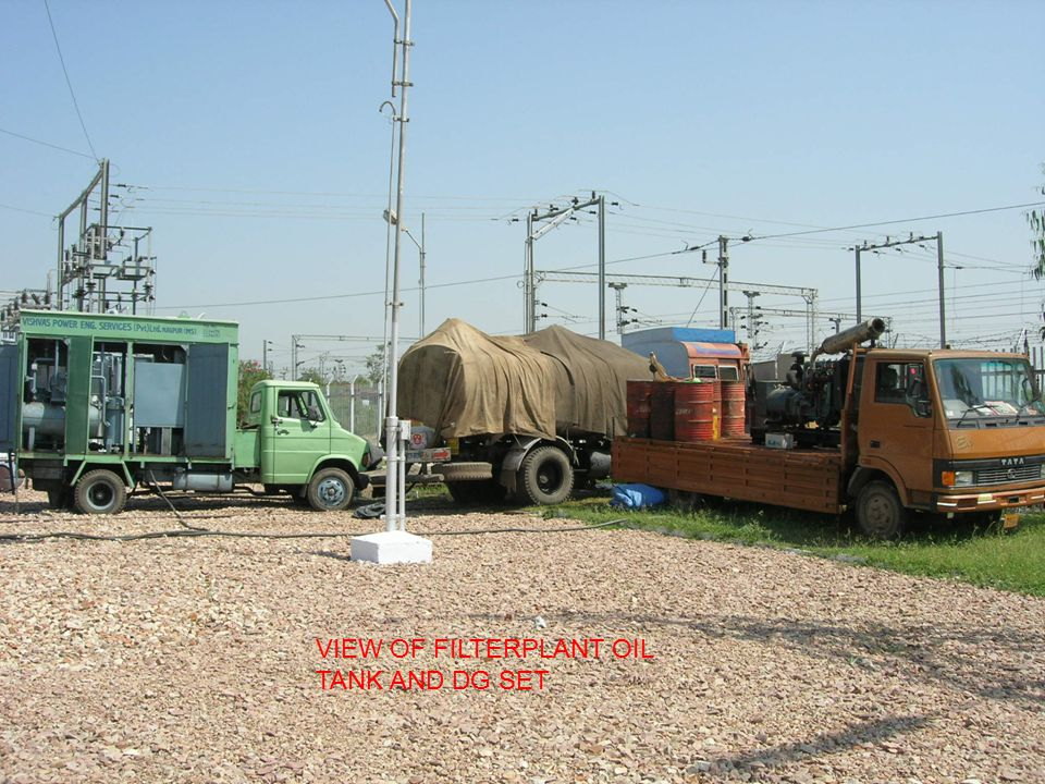 VIEW OF FILTERPLANT OIL TANK AND DG SET