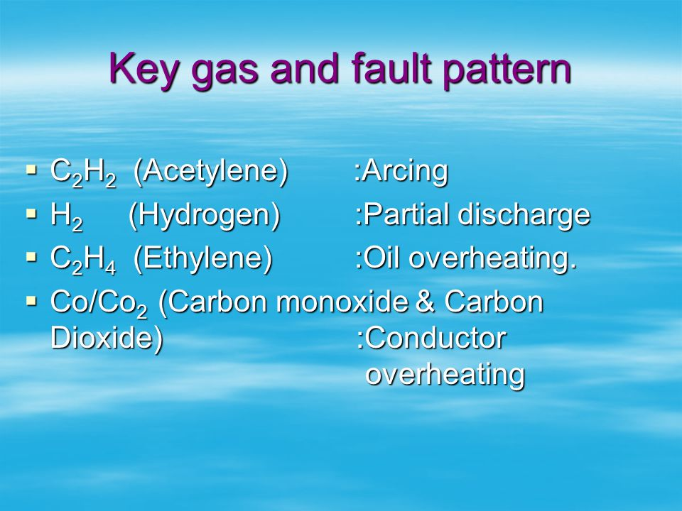 Key gas and fault pattern
