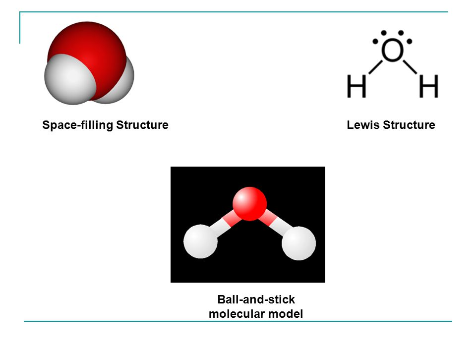 Space-filling Structure Ball-and-stick molecular model