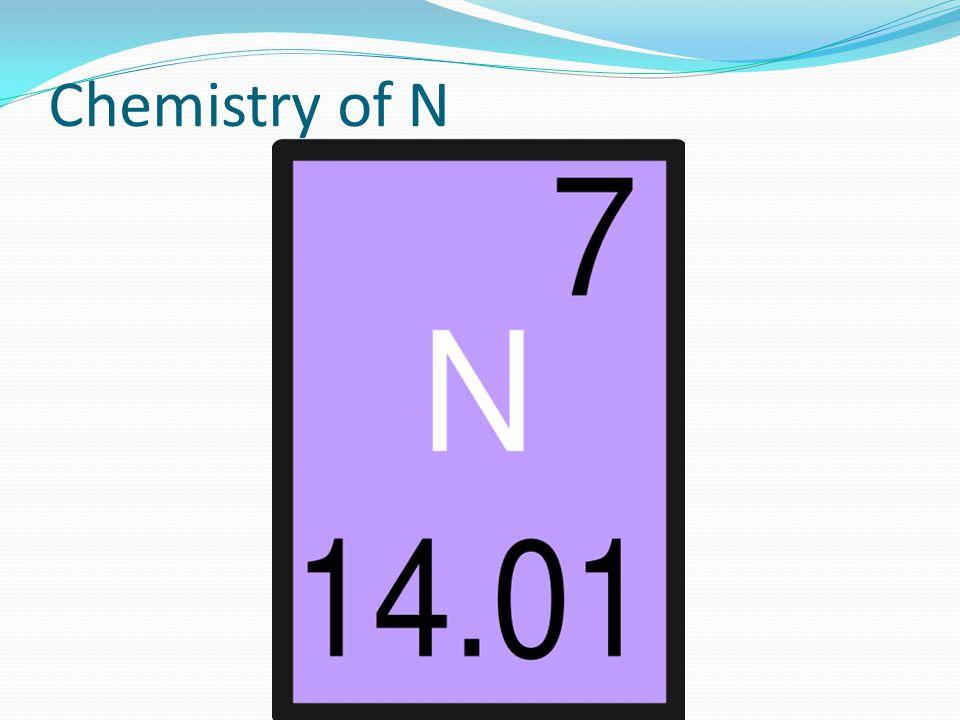 Chemistry of N