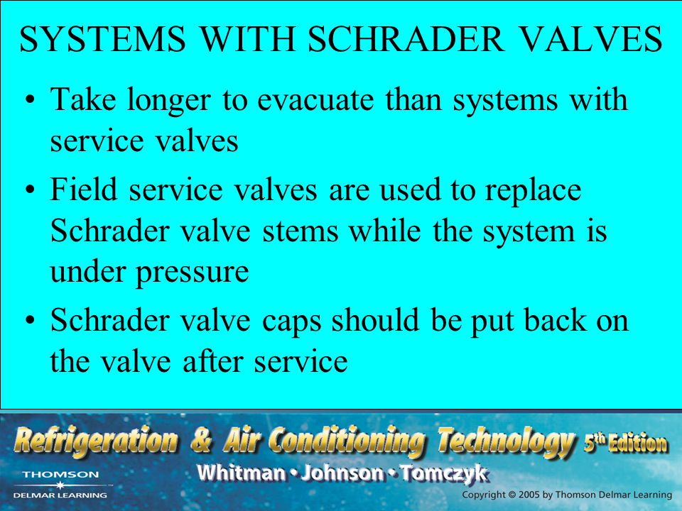 SYSTEMS WITH SCHRADER VALVES