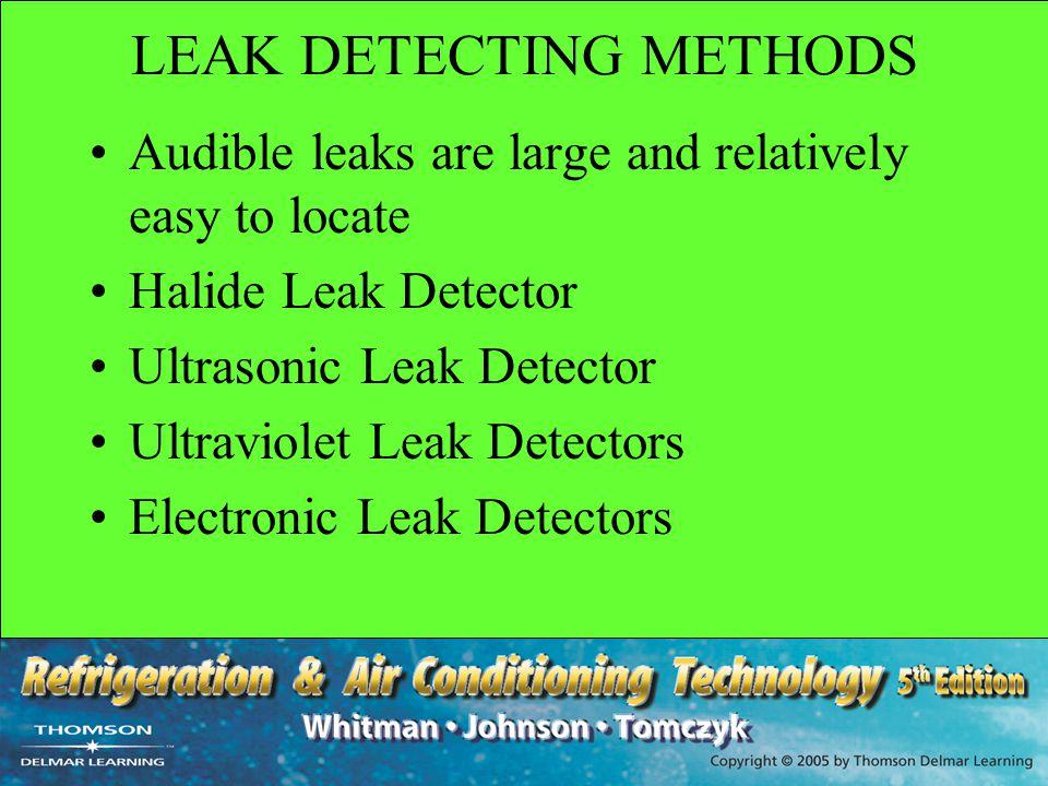 LEAK DETECTING METHODS