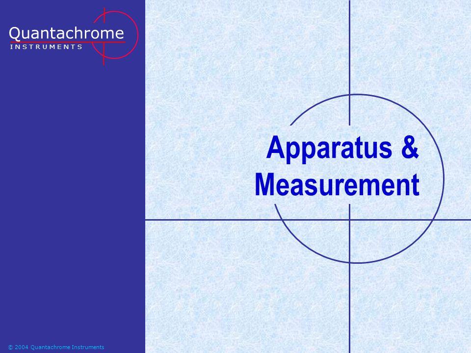 Apparatus & Measurement