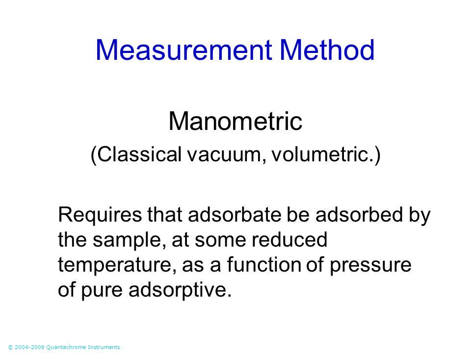 (Classical vacuum, volumetric.)