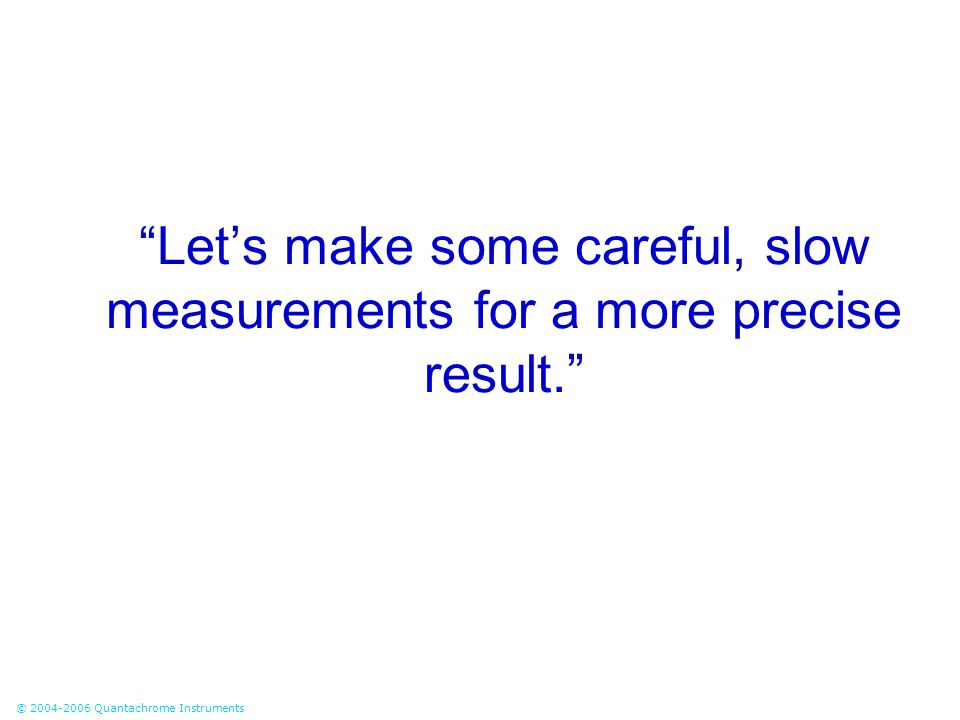 Let's make some careful, slow measurements for a more precise result