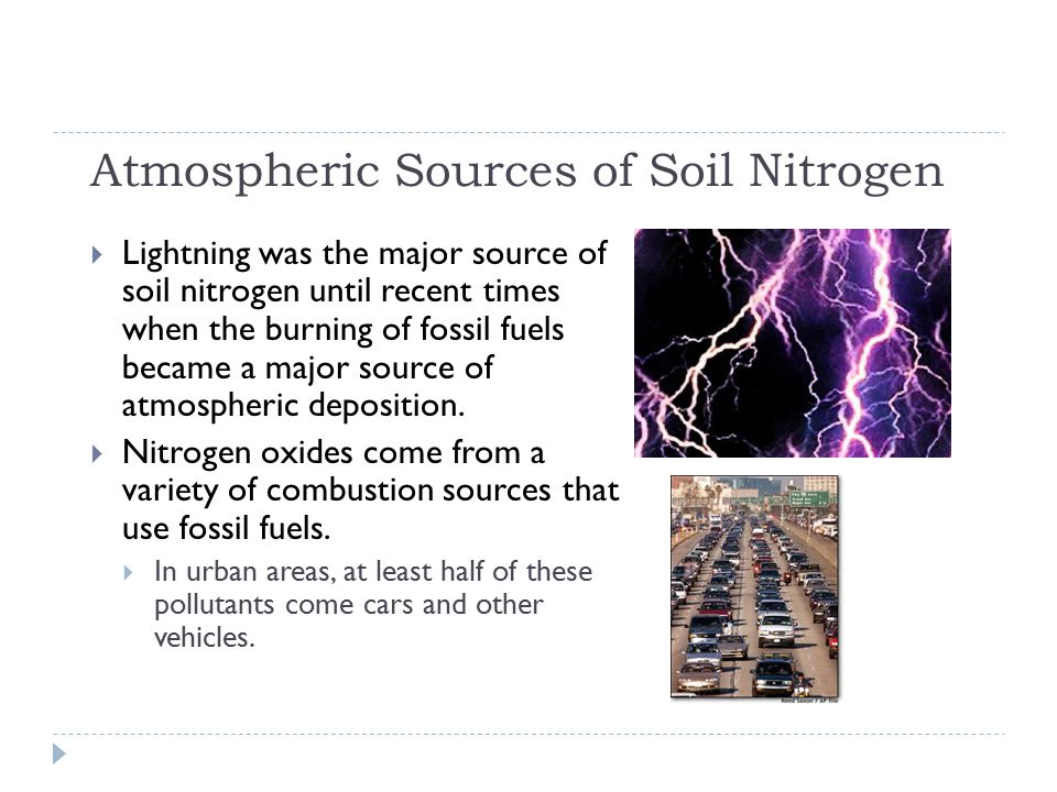 Atmospheric Sources of Soil Nitrogen