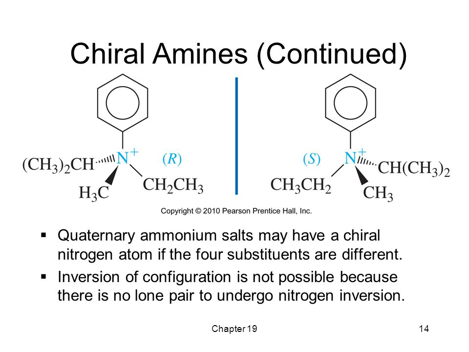 Chiral Amines (Continued)