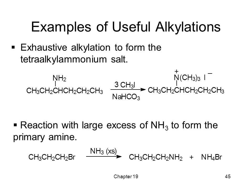 Examples of Useful Alkylations