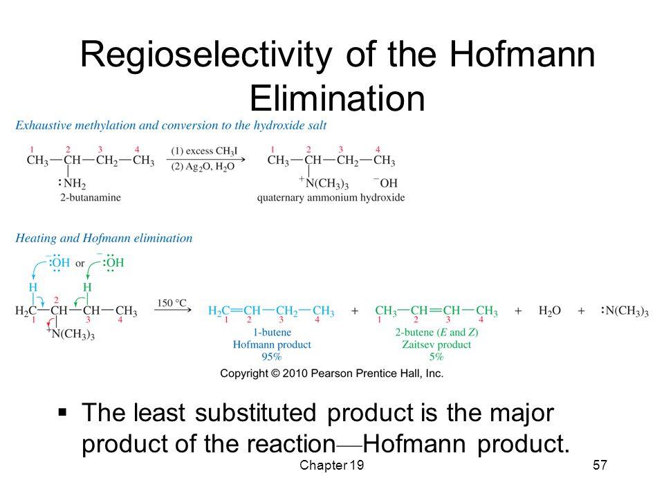 Regioselectivity of the Hofmann Elimination