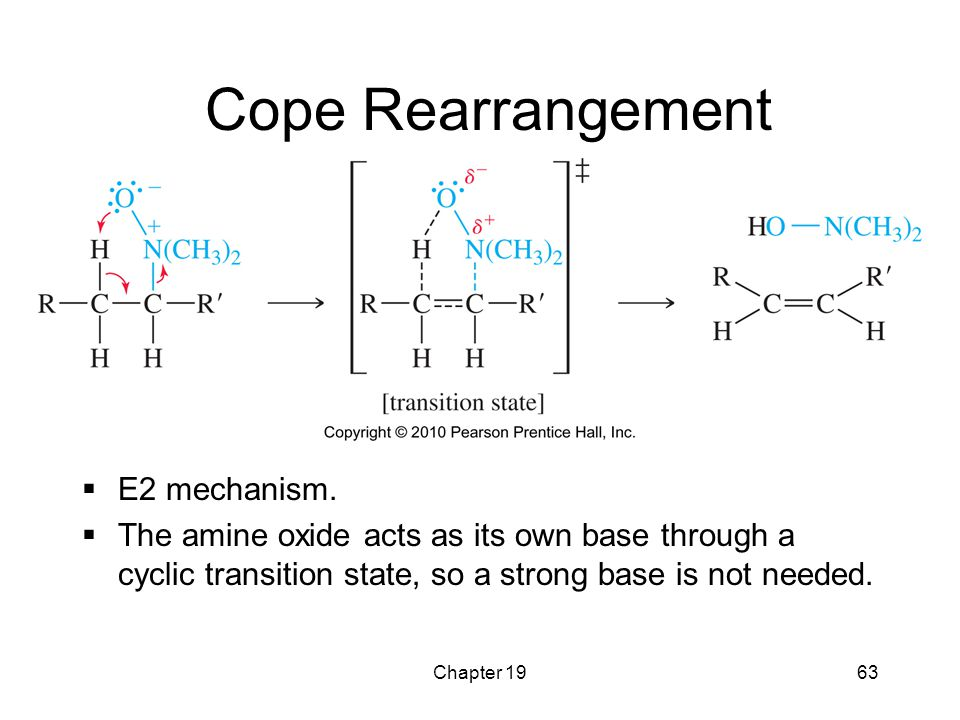 Cope Rearrangement E2 mechanism.