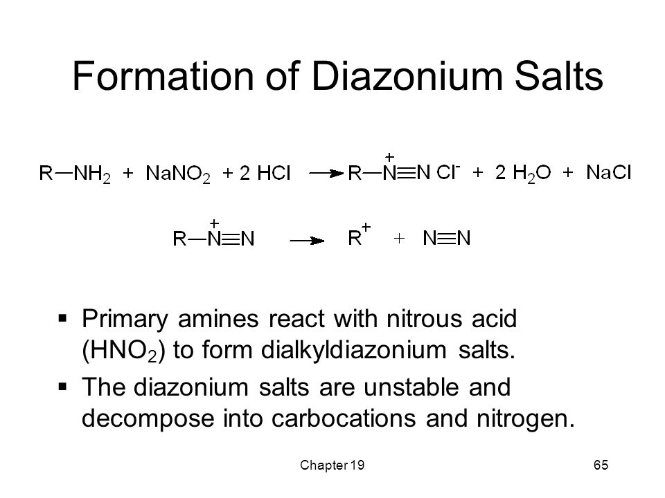 Formation of Diazonium Salts