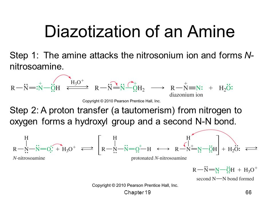 Diazotization of an Amine