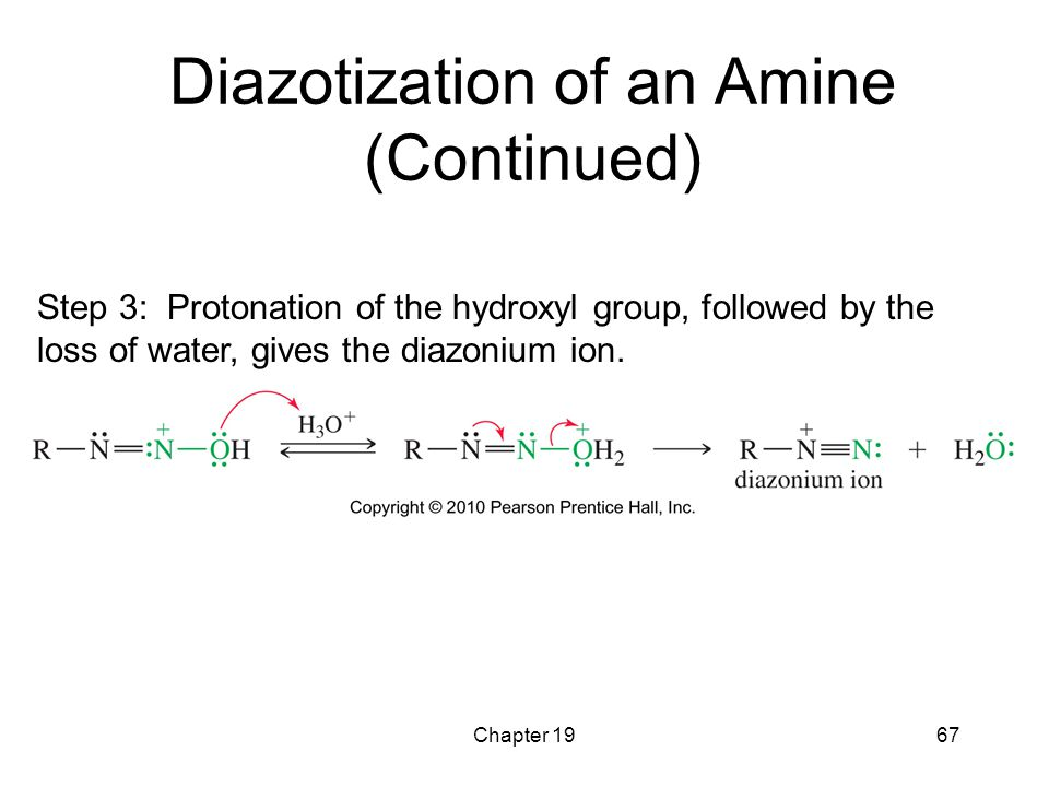 Diazotization of an Amine (Continued)