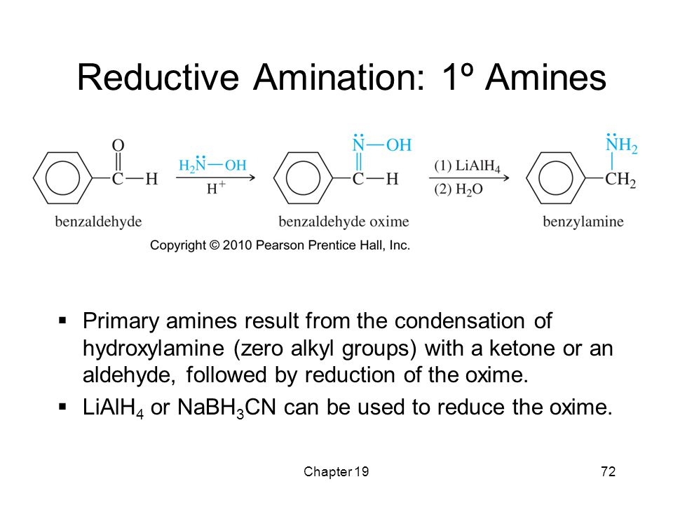 Reductive Amination: 1º Amines