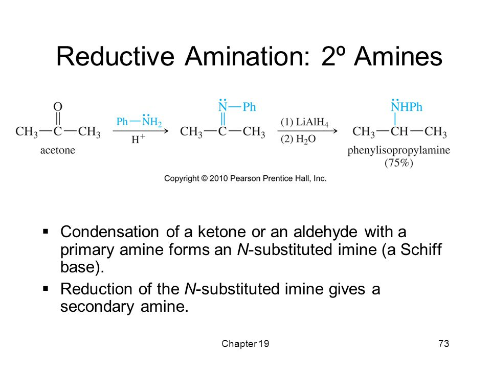 Reductive Amination: 2º Amines