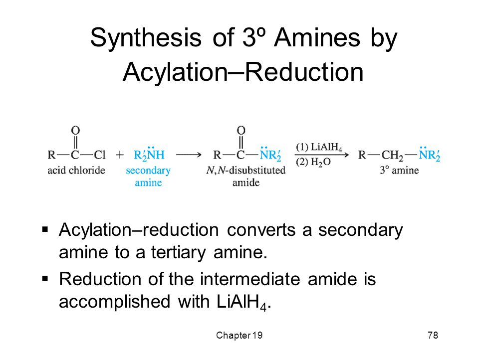 Synthesis of 3º Amines by Acylation–Reduction