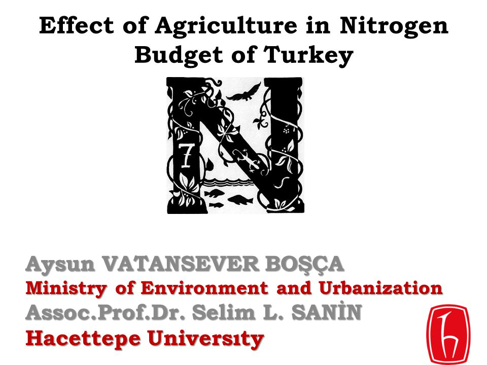 Effect of Agriculture in Nitrogen Budget of Turkey
