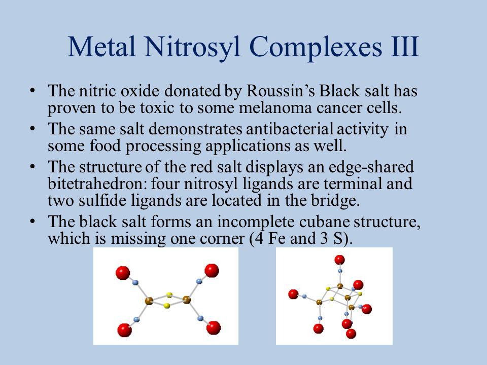 Metal Nitrosyl Complexes III