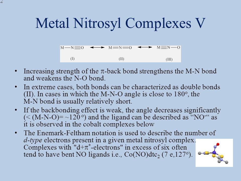 Metal Nitrosyl Complexes V