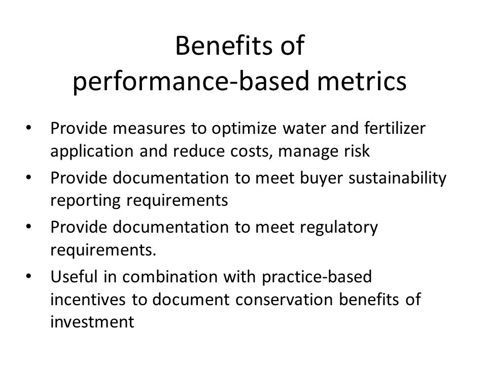 performance-based metrics