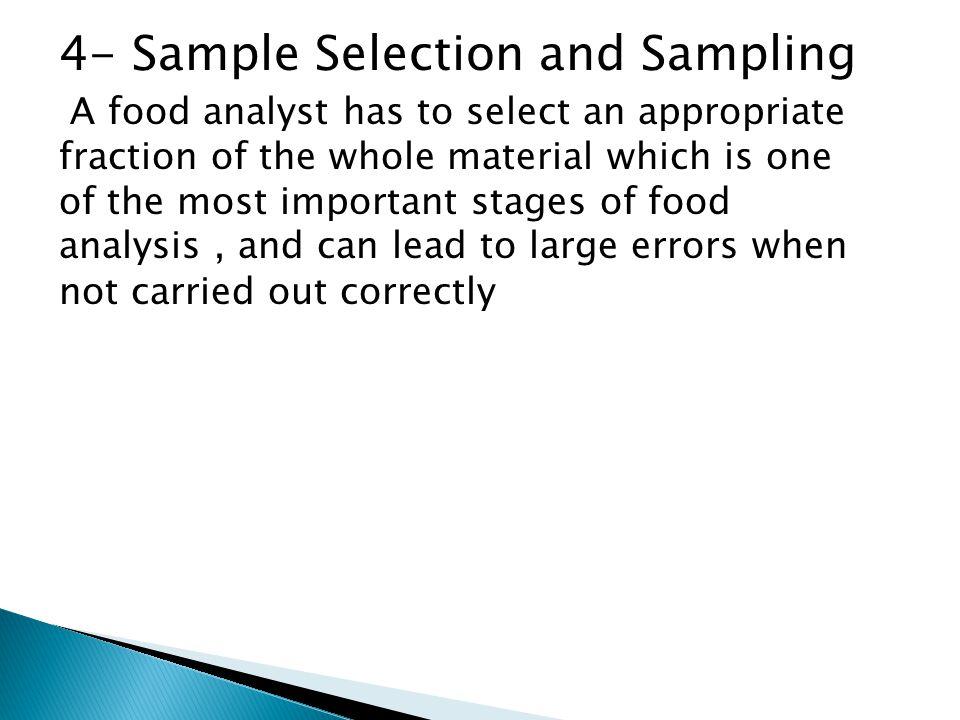 4- Sample Selection and Sampling