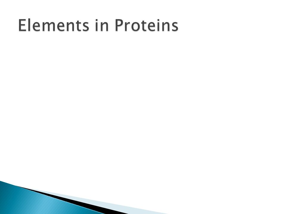 Elements in Proteins