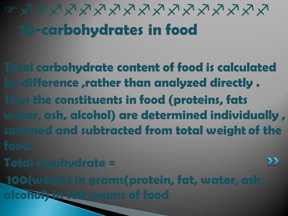 Ffffffffffffffffff 10-carbohydrates in food