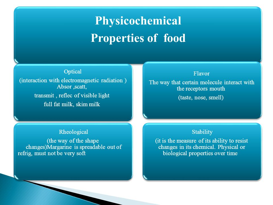 Physicochemical Properties of food