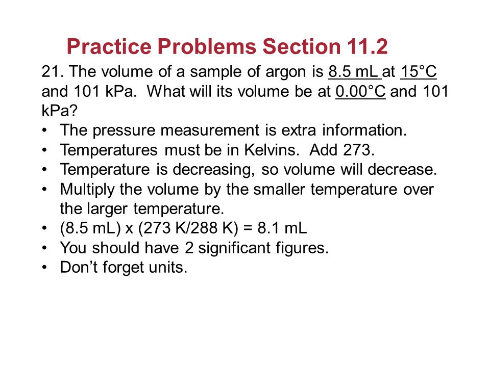 Practice Problems Section 11.2