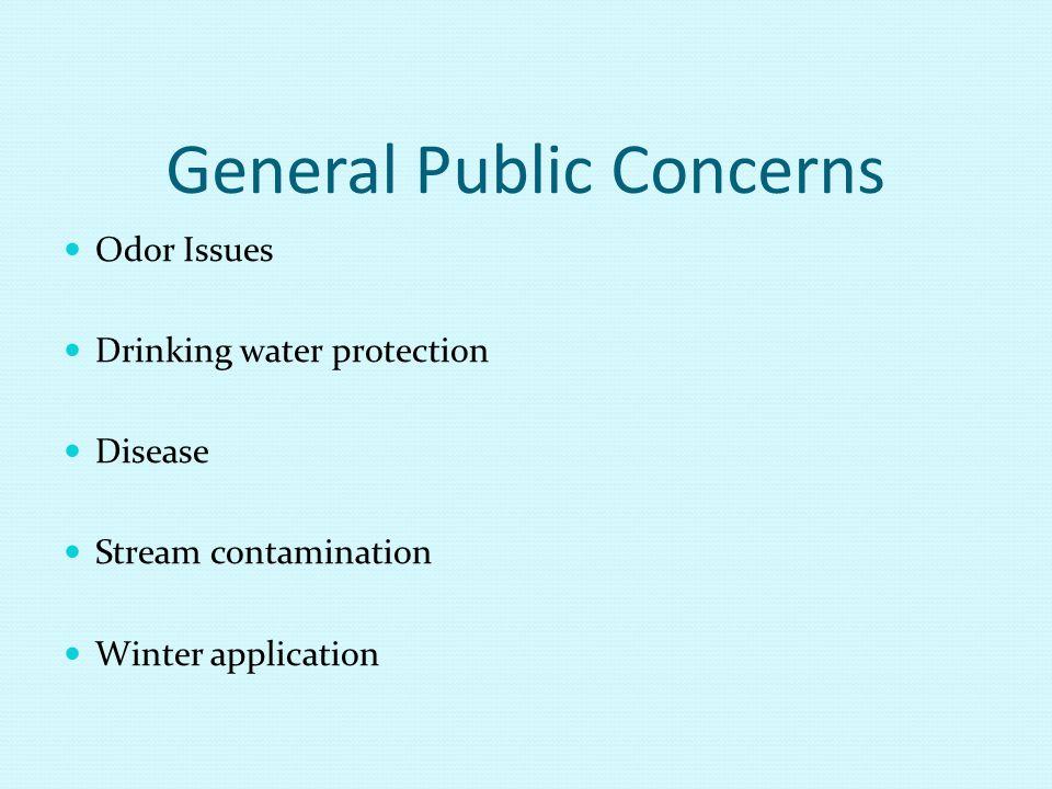 General Public Concerns