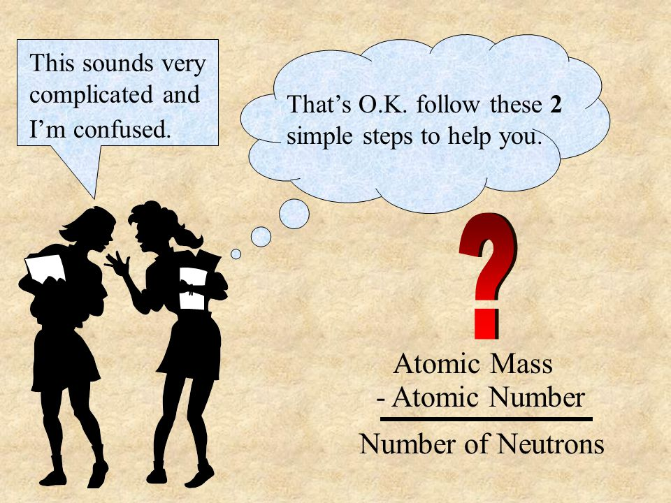Atomic Mass - Atomic Number Number of Neutrons