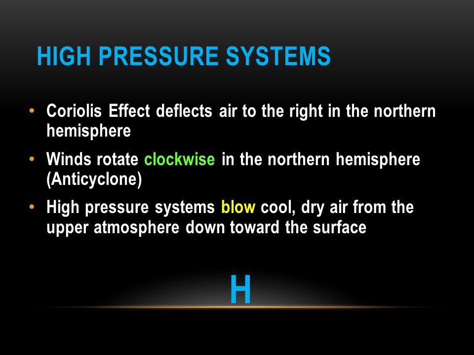 H High Pressure Systems