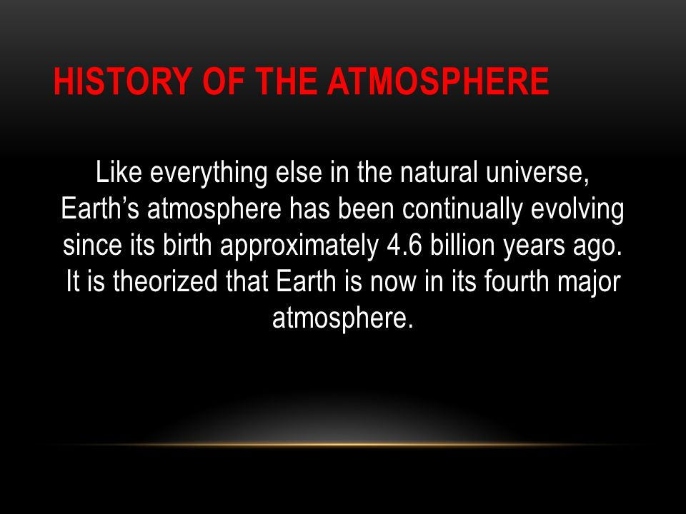 History of the Atmosphere