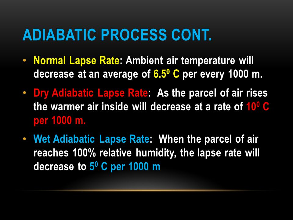 Adiabatic Process cont.