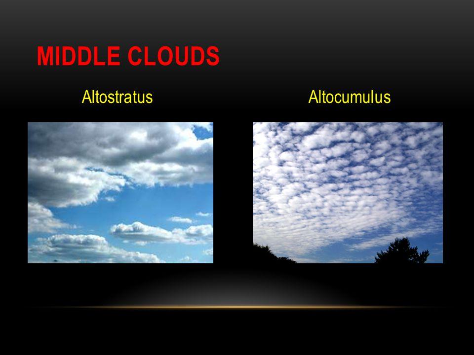 Middle Clouds Altostratus Altocumulus