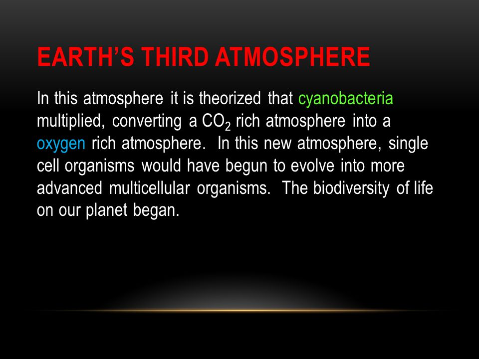 Earth's Third Atmosphere