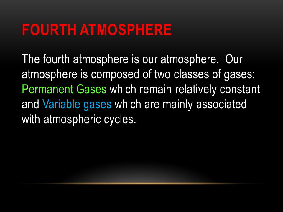 Fourth Atmosphere